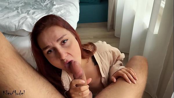 Sexo com amadora ruiva boqueteira